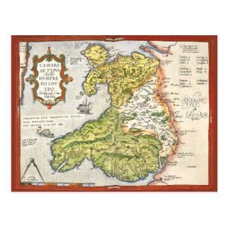 Mapa del vintage de País de Gales y de Anglesey 15 Postales