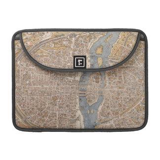 Mapa del vintage de París 1550 Fundas Macbook Pro