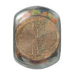 Mapa del vintage de París (1575) Frascos De Cristal Jelly Belly