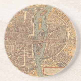 Mapa del vintage de París (1575) Posavasos Para Bebidas