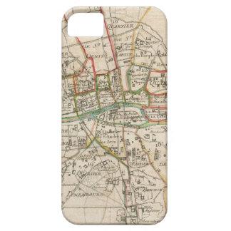 Mapa del vintage de París (1678) iPhone 5 Cárcasas