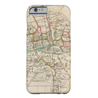 Mapa del vintage de París (1678) Funda De iPhone 6 Barely There