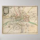 Mapa del vintage de París (1678) Impresiones