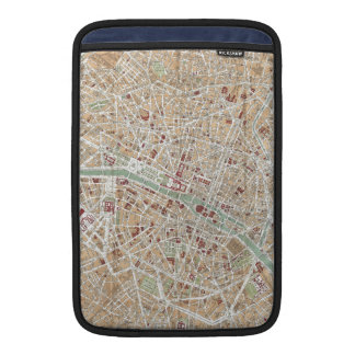 Mapa del vintage de París 1892 Fundas Macbook Air
