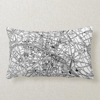 Mapa del vintage de París (1911) Cojines