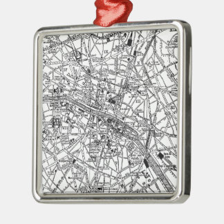 Mapa del vintage de París (1911) Adorno De Reyes