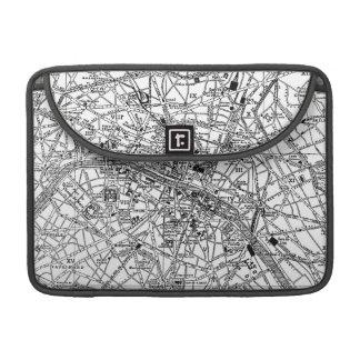 Mapa del vintage de París 1911 Funda Para Macbooks