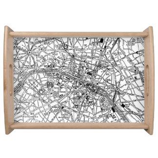 Mapa del vintage de París (1911) Bandejas