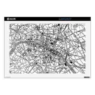Mapa del vintage de París (1911) Calcomanías Para 43,2cm Portátiles