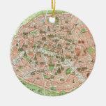 Mapa del vintage de París (1920) Ornamente De Reyes