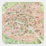 Mapa del vintage de París (1920) Etiquetas