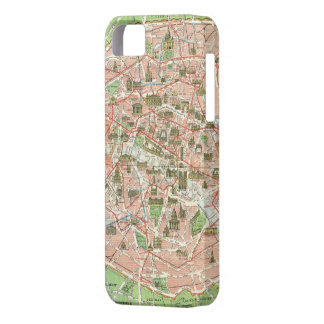 Mapa del vintage de París (1920) iPhone 5 Case-Mate Coberturas