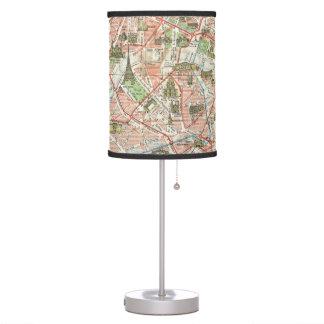 Mapa del vintage de París (1920) Lámpara De Escritorio