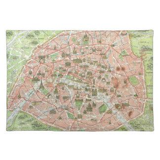 Mapa del vintage de París (1920) Manteles