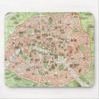 Mapa del vintage de París (1920) Alfombrilla De Raton