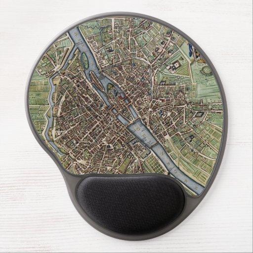 Mapa del vintage de París Alfombrillas Con Gel