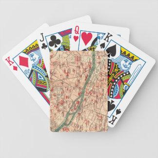 Mapa del vintage de París Francia (1910) Baraja Cartas De Poker