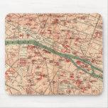 Mapa del vintage de París Francia (1910) Tapetes De Ratón