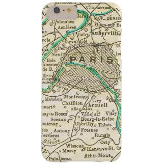 Mapa del vintage de PARÍS FRANCIA Funda Para iPhone 6 Plus Barely There