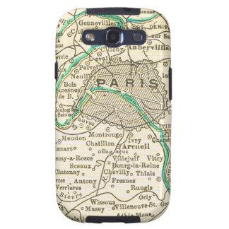 Mapa del vintage de PARÍS FRANCIA Samsung Galaxy SIII Funda