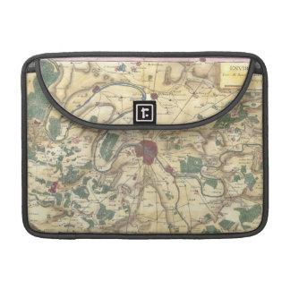 Mapa del vintage de París y de los alrededores 17 Fundas Macbook Pro