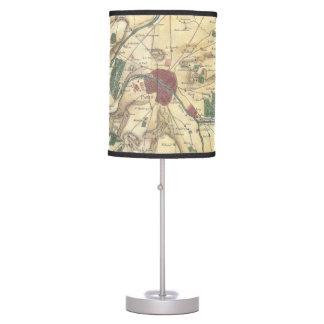 Mapa del vintage de París y de los alrededores (17 Lámpara De Mesilla De Noche