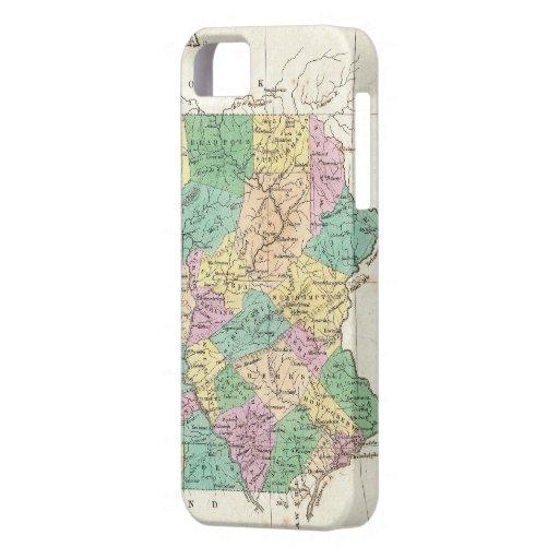 Mapa del vintage de Pennsylvania (1827) iPhone 5 Case-Mate Carcasa
