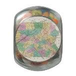 Mapa del vintage de Pennsylvania (1827) Frascos De Cristal