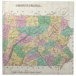 Mapa del vintage de Pennsylvania (1827) Servilletas De Papel
