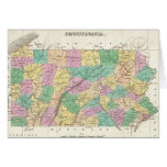 Mapa del vintage de Pennsylvania (1827) Tarjetón