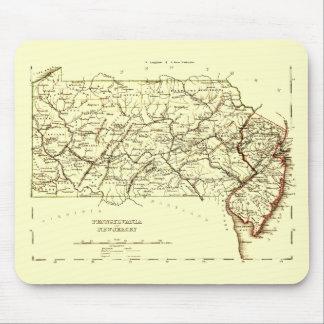 Mapa del vintage de Pennsylvania+NJ 1875 Alfombrilla De Ratones
