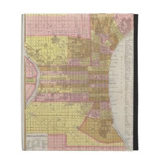 Mapa del vintage de Philadelphia 1846