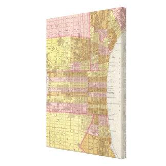 Mapa del vintage de Philadelphia 1846 Impresion De Lienzo