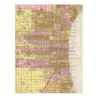 Mapa del vintage de Philadelphia (1846) Postal