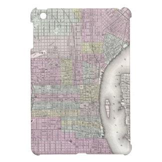 Mapa del vintage de Philadelphia 1855 iPad Mini Cárcasas