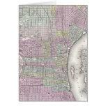 Mapa del vintage de Philadelphia (1855) Felicitaciones
