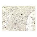 Mapa del vintage de Philadelphia (1885) Tarjetas Postales