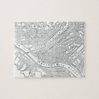 Mapa del vintage de Pittsburgh (1885) Rompecabeza