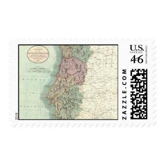Mapa del vintage de Portugal 1801