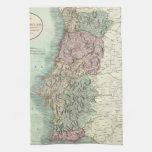 Mapa del vintage de Portugal (1801) Toalla