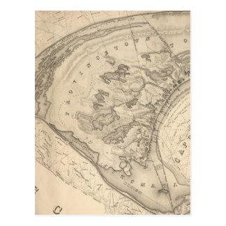 Mapa del vintage de Provincetown (1836) Postales