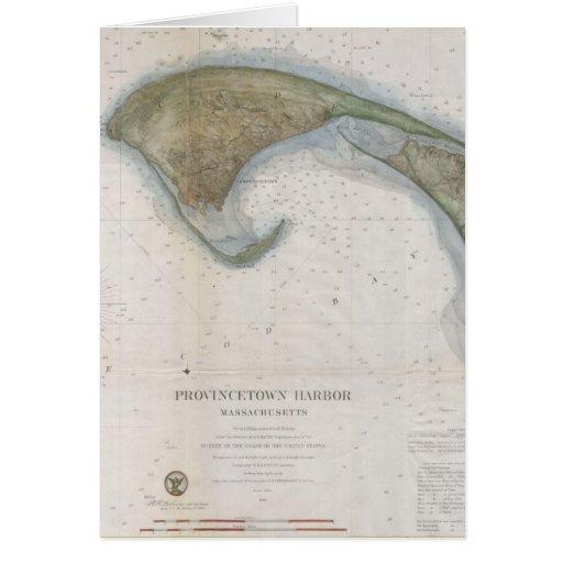 Mapa del vintage de Provincetown Tarjetón