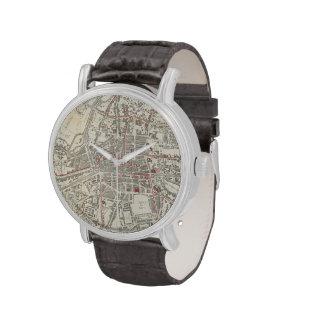 Mapa del vintage de Rennes Francia (1905) Relojes De Mano