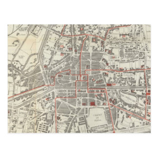 Mapa del vintage de Rennes Francia (1905) Postal