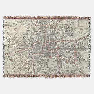 Mapa del vintage de Rennes Francia (1905) Manta