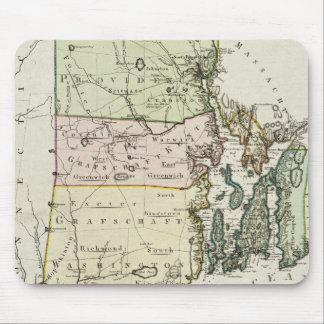 Mapa del vintage de Rhode Island (1797) Tapete De Ratón