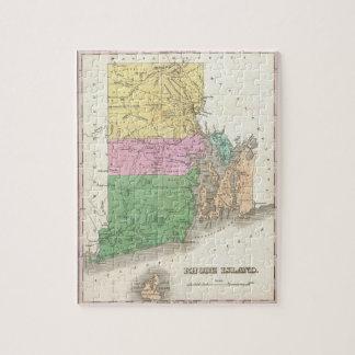 Mapa del vintage de Rhode Island 1827 Puzzle
