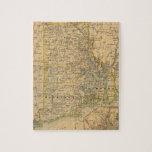 Mapa del vintage de Rhode Island (1875) Puzzle