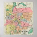 Mapa del vintage de Rochester NY (1901) Póster