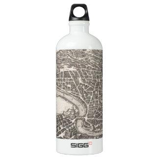 Mapa del vintage de Roma Italia (1652) Botella De Agua